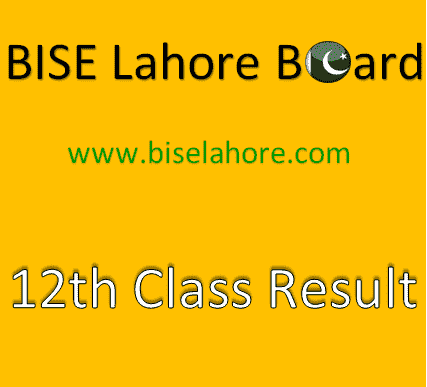 12 Class Result 2020 Lahore Board