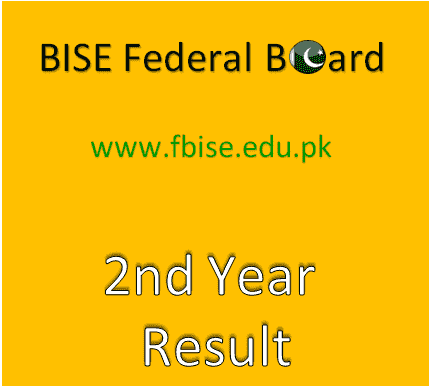 FBISE 2nd Year Result 2020