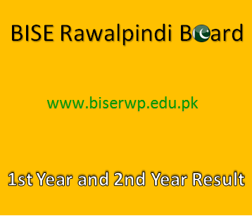 Rawalpindi Board 1st Year and 2nd Year Result 2021 - BISERWP