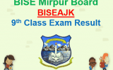 9th Class Result 2018 BISE AJK board