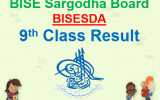 Sargodha Board 9th Class Result 2018