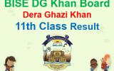 BISE DG Khan 11th Class Result 2018