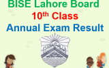 BISE Lahore 10th Result 2018