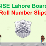 BISE Lahore Board Roll Number Slip 2018