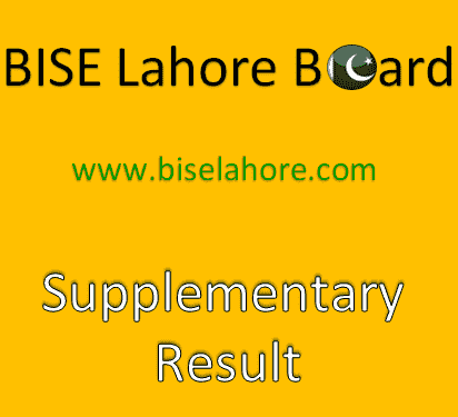 BISE Lahore Matric Supplementary Result 2019