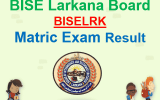 BISE Larkana Matric Result 2018