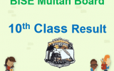 Multan Board 10th Class Result 2018