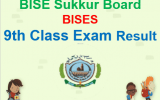 BISE Sukkur Board 9th Result 2018