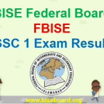 FBISE SSC 1 Result 2018