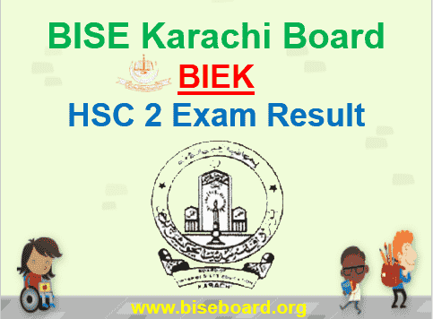 Karachi Board HSC Part 2 Result 2019