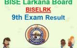 Larkana Board 9th Class Result 2018