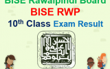 BISE RWP 10th Class Result 2018